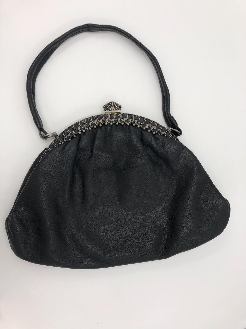 uk availability c2d42 47ed9 50er Jahre Handtasche aus Leder - Vintage Mode Onlineshop ...