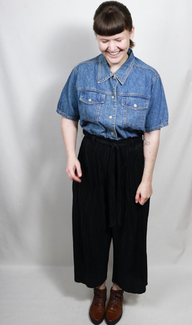 Denim Oversize Shirt Aus Baumwolle Made In America Vintage Mode Onlineshop Vintage Kleider Gunstig Kaufen