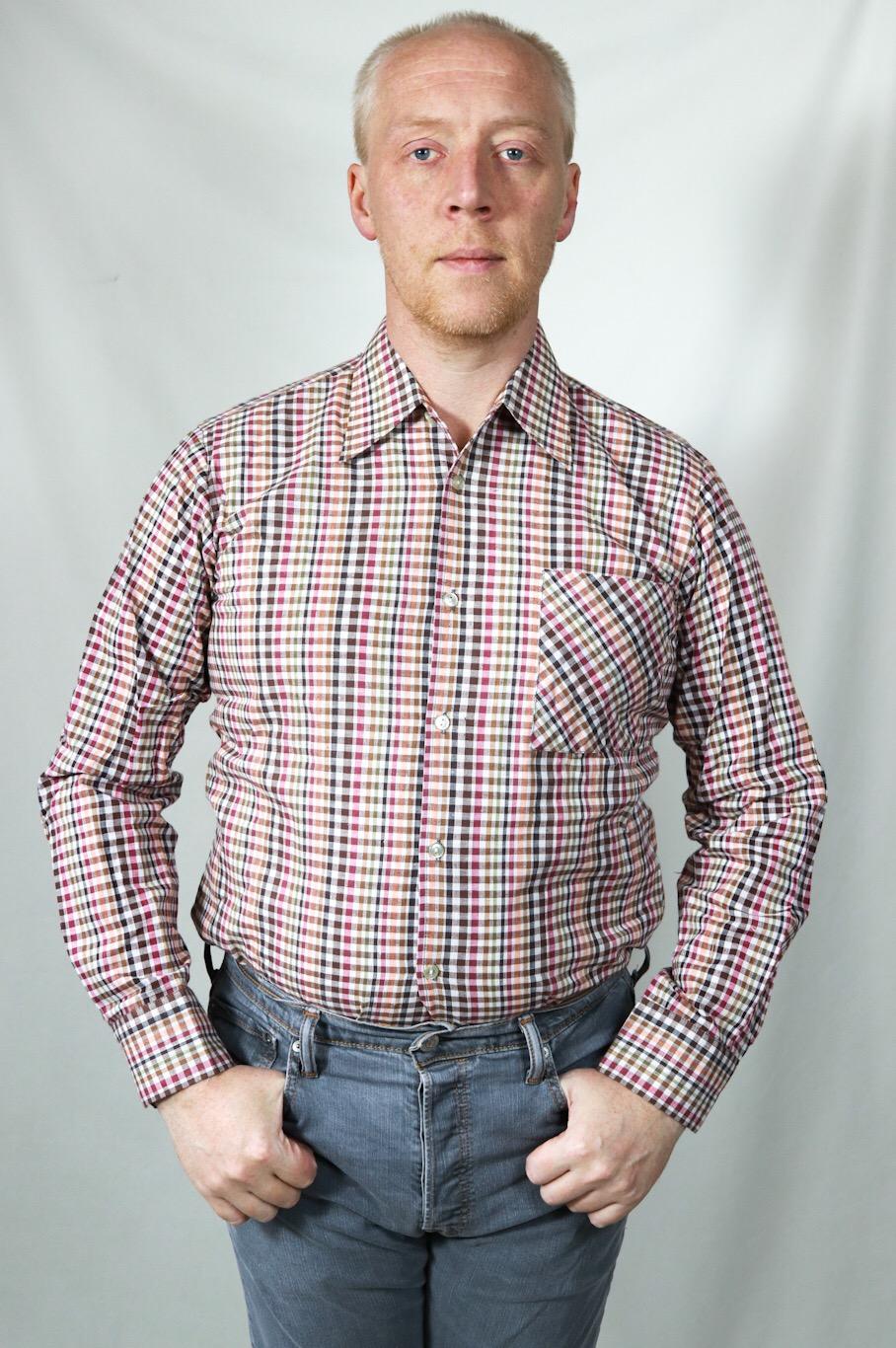 vintage holzfällerhemd in rottönen - vintage mode onlineshop